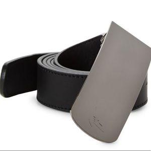 giuseppe zanotti • NEW • leather logo belt